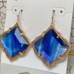 Kendra Scott blue Kirsten drop earrings